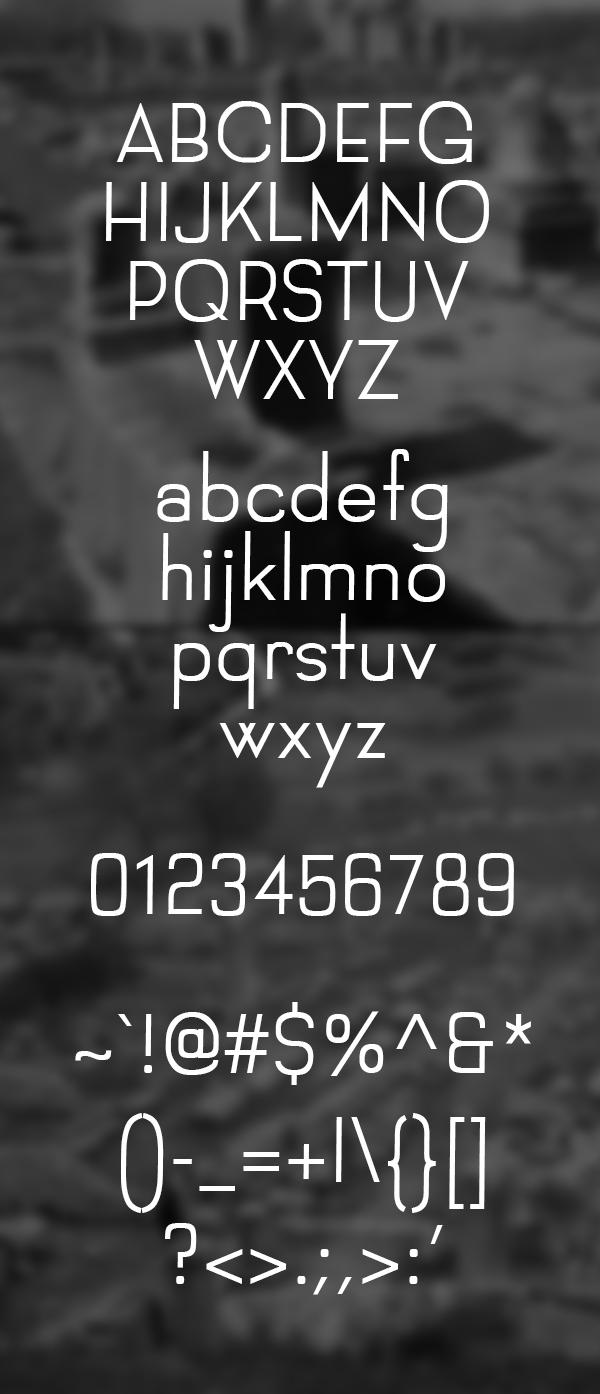 Filipi Font Letters