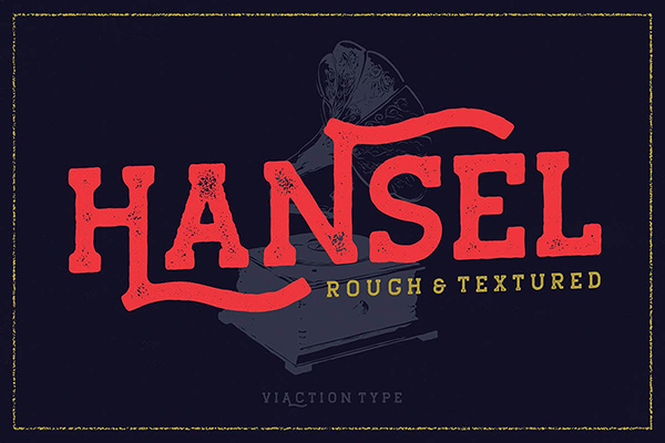 Hansel Slab Serif Rough Free Font