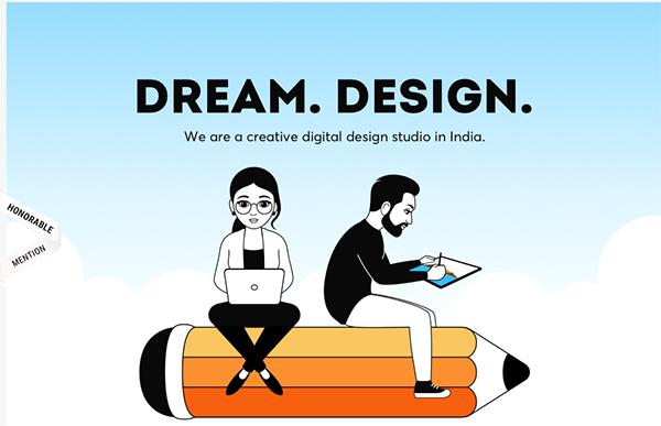 Creative Dreams Design - Illustation in Website Design