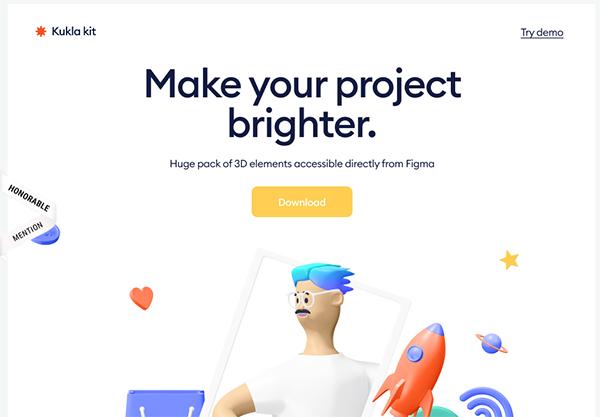 kukla 3d icon kit - Illustation in Website Design