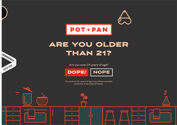 Pot + Pan Kitchen - Illustation in Website Design