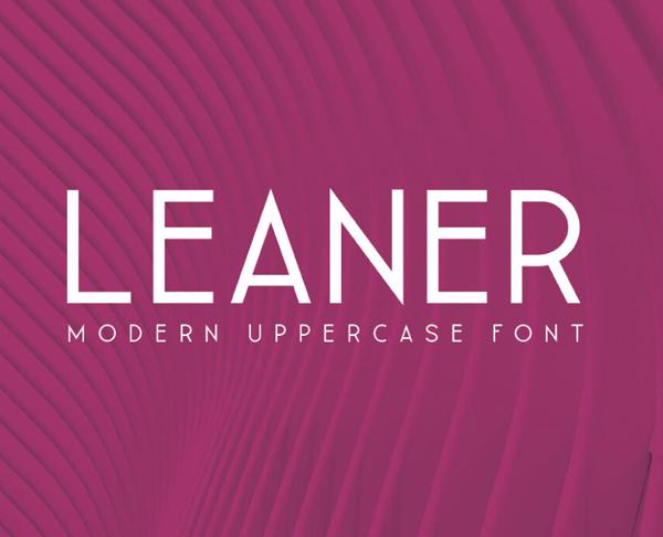 Leaner Free Font