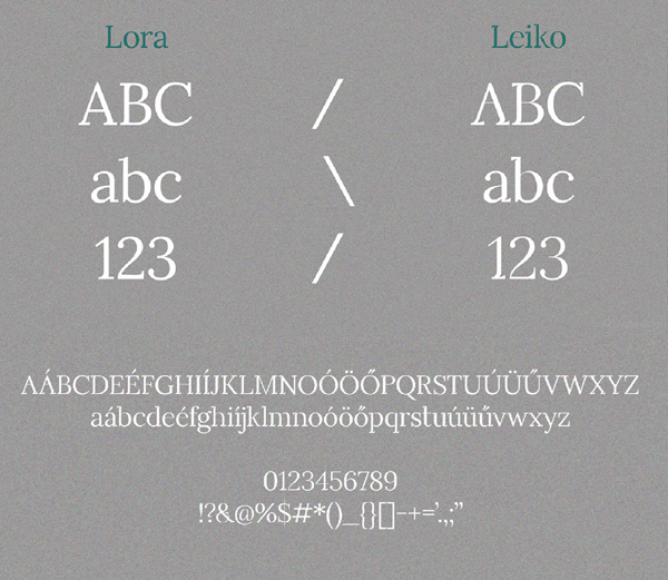 Leiko Font Letters