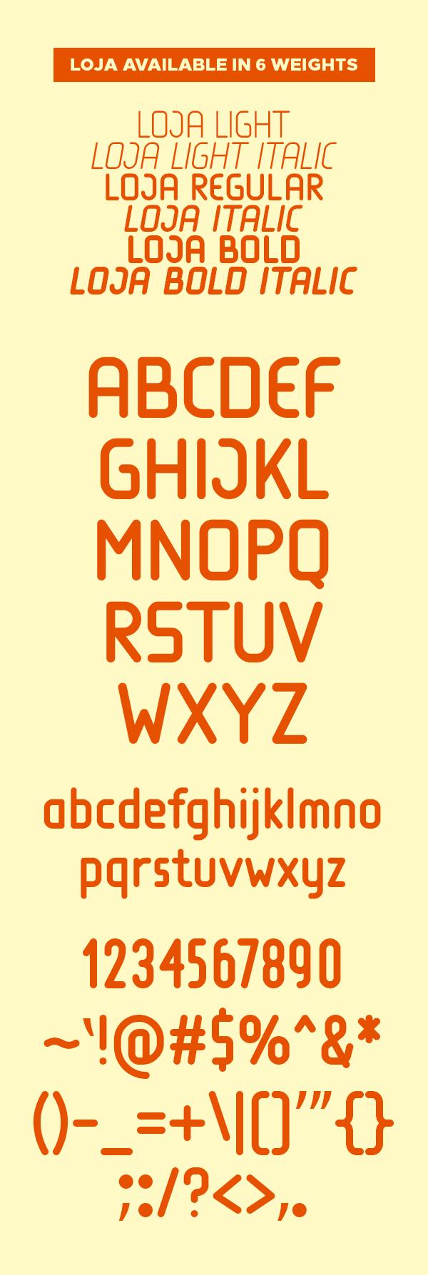 Loja Font Letters