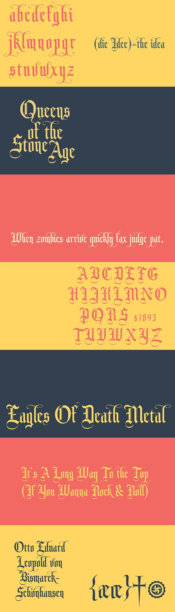 Monk Font Letters