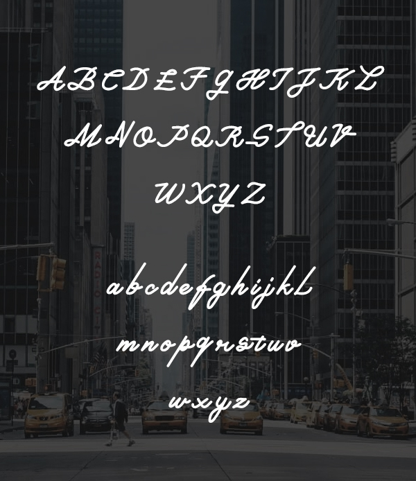 Piciaw Script Font Letters