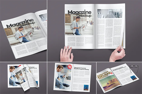 Magazine Pages Mockups