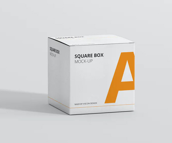 Package Box Mock-Up - Square