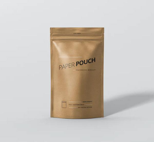 Paper Pouch Bag Mockup