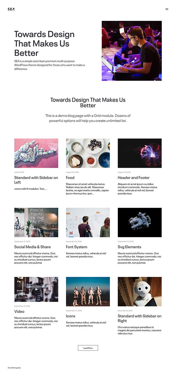 SEA - Creative Multi-Purpose WordPress Theme