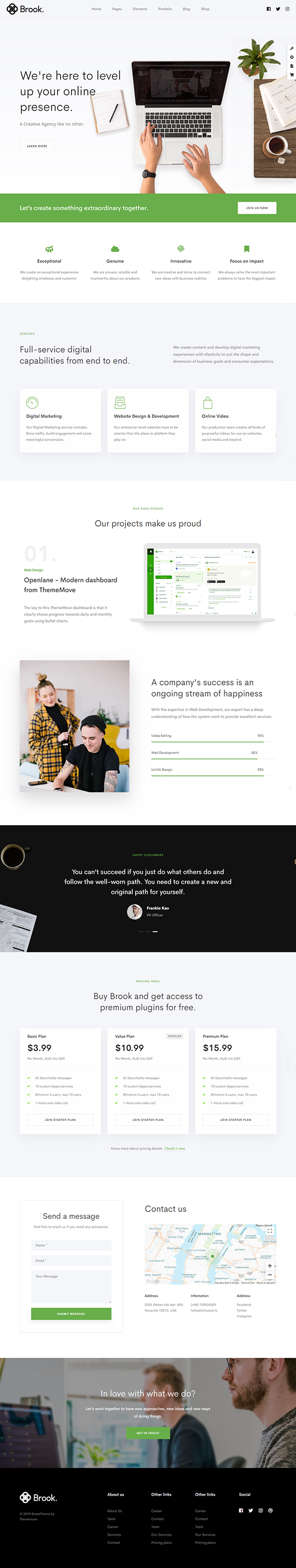 Agency Brook - Agency Business Creative WordPress Theme
