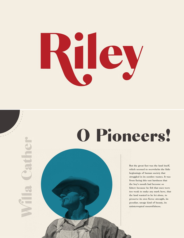 Riley - A Modern Typeface