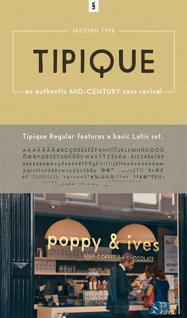 Tipique | Mid-Century Font