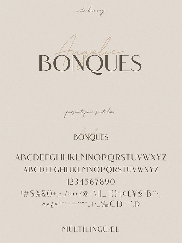 Angelic Bonques - Font
