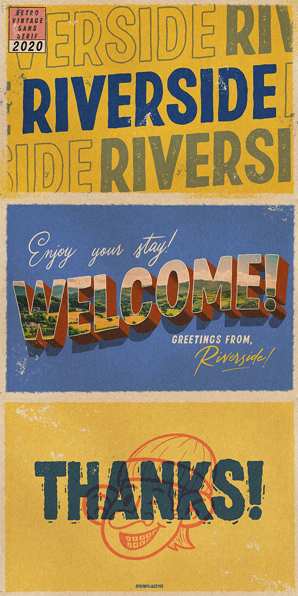 Retro Vintage Sans Serif Font