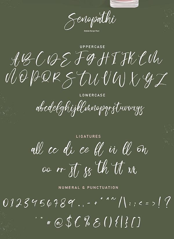 Senopathi Font Letters