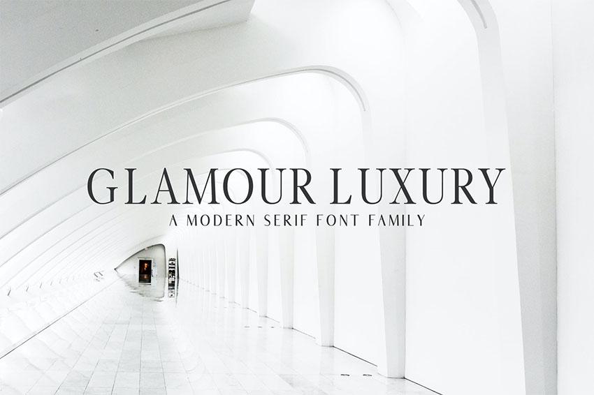 Glamour Luxury Serif Font Family