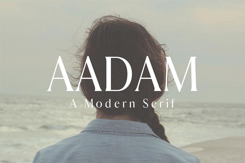 Aadam A Modern Serif Fonts Family