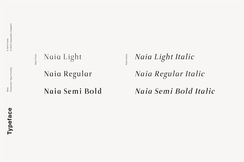Naia - Sophisticated Serif Typeface OTF