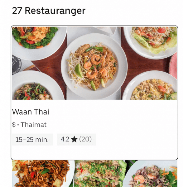 Link containing resturant information, dollar-icons, and customer reviews.