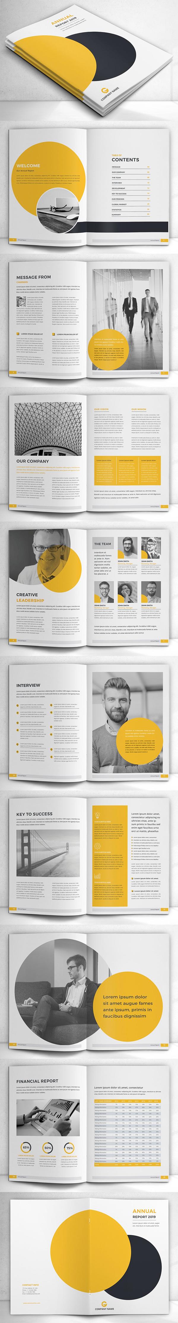 Simple Annual Report Brochure Template