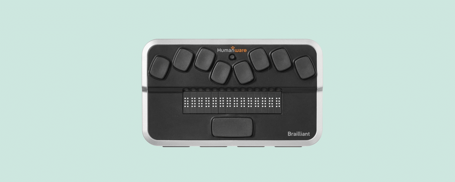 Refreshable braille display, photo.