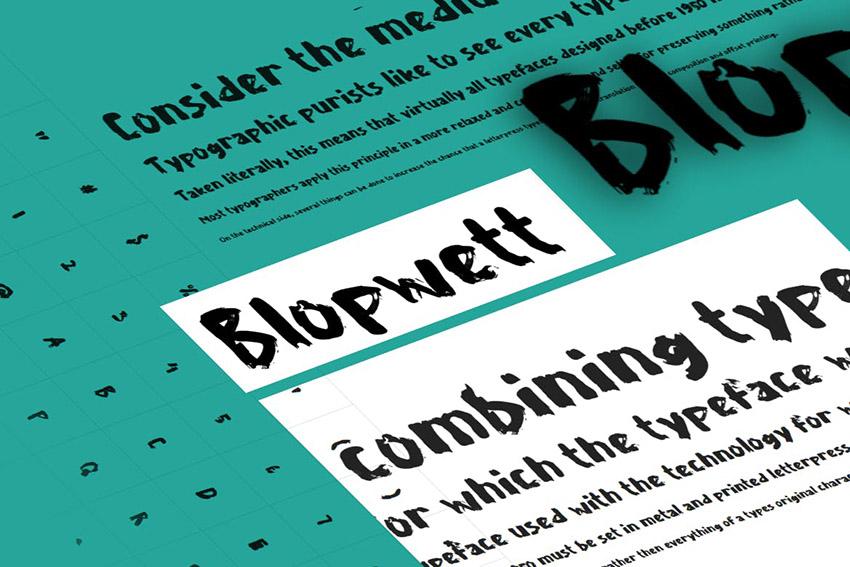 Blopwett Zombie Movie Font