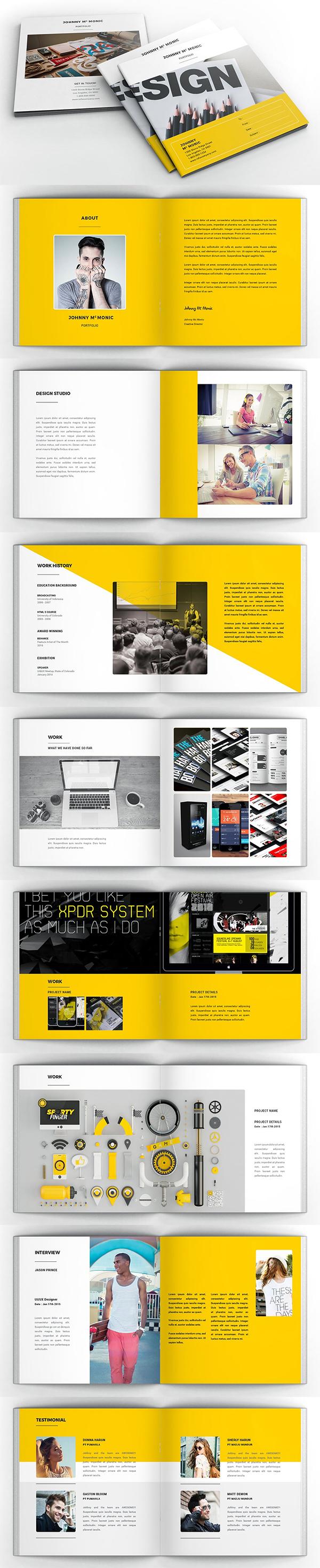 Creative Portfolio Square Brochure
