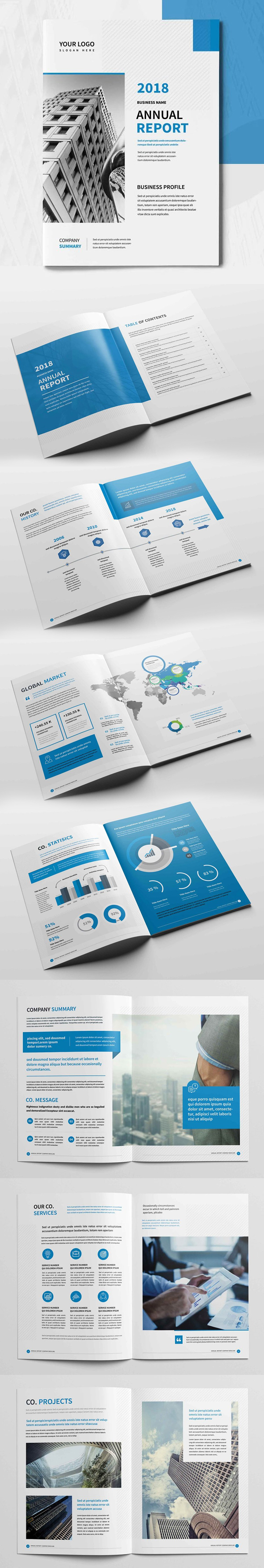 Annual Report Brochure Design Template
