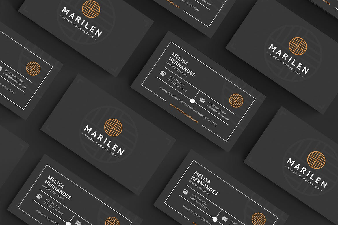 Dark Business Card Design