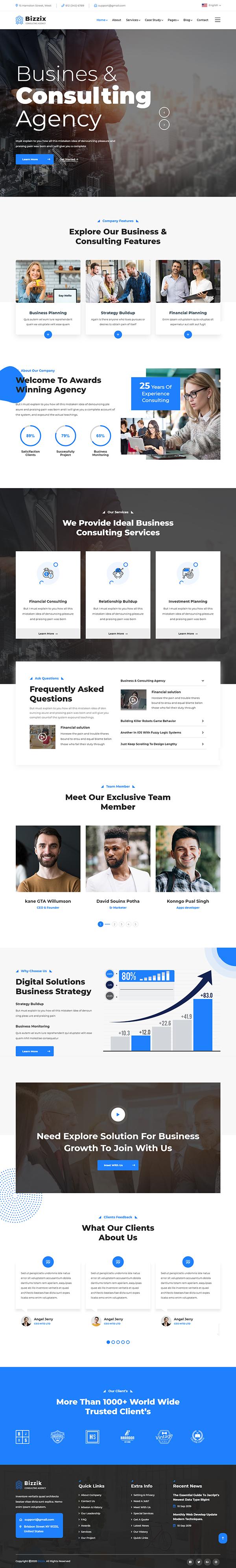 Bizzix - Multipurpose Business WordPress Theme