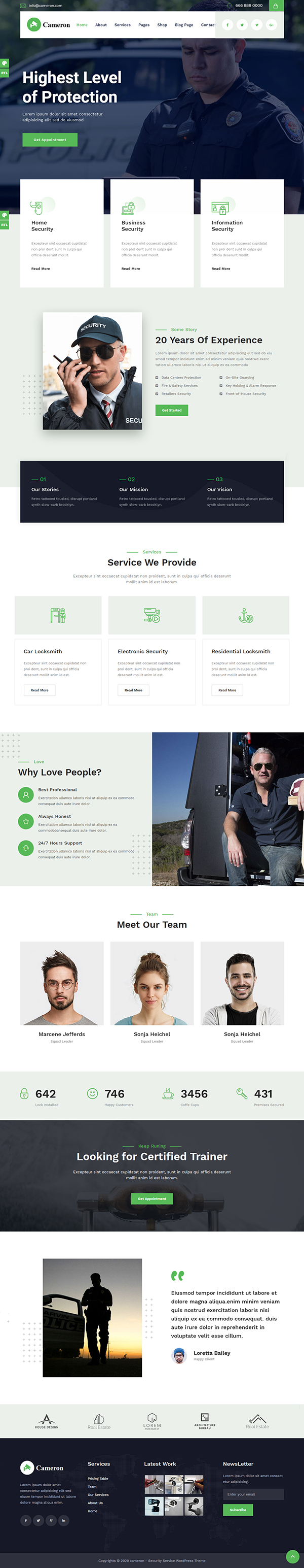 Cameron - Home Automation & Security WordPress Theme + RTL