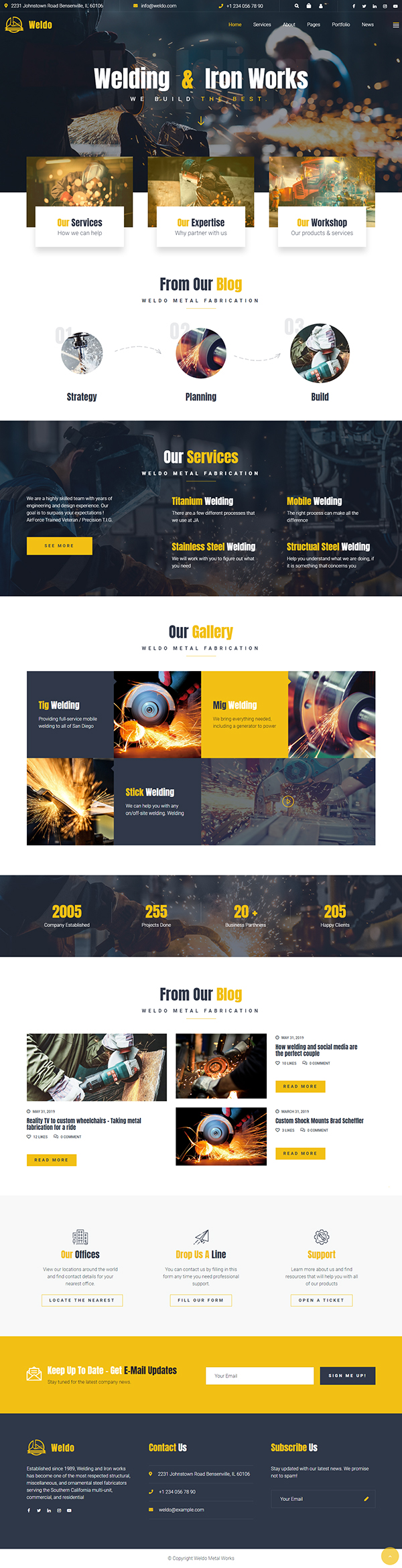 Weldo - Metal Works WordPress Theme