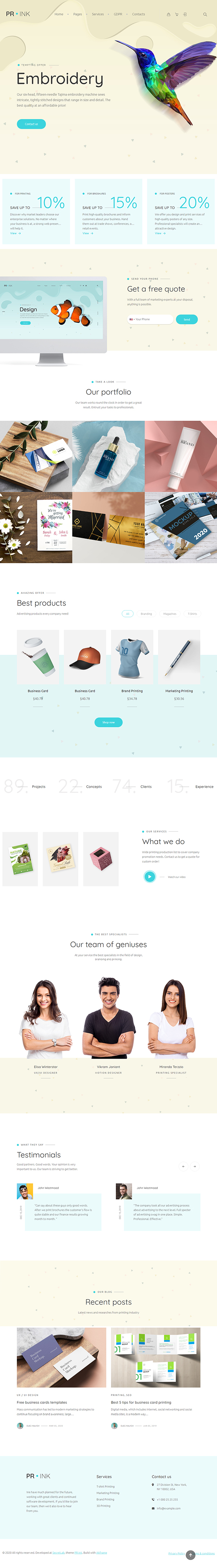 Prink - Print Shop WordPress Theme