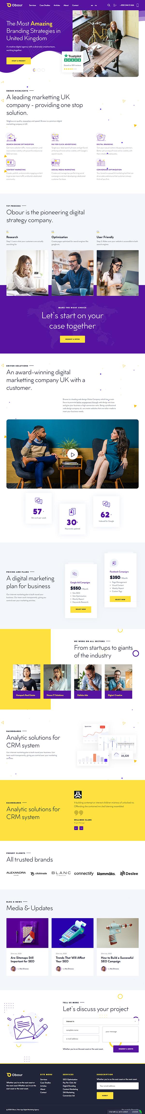 Obour | Digital Marketing Agency WordPress Theme