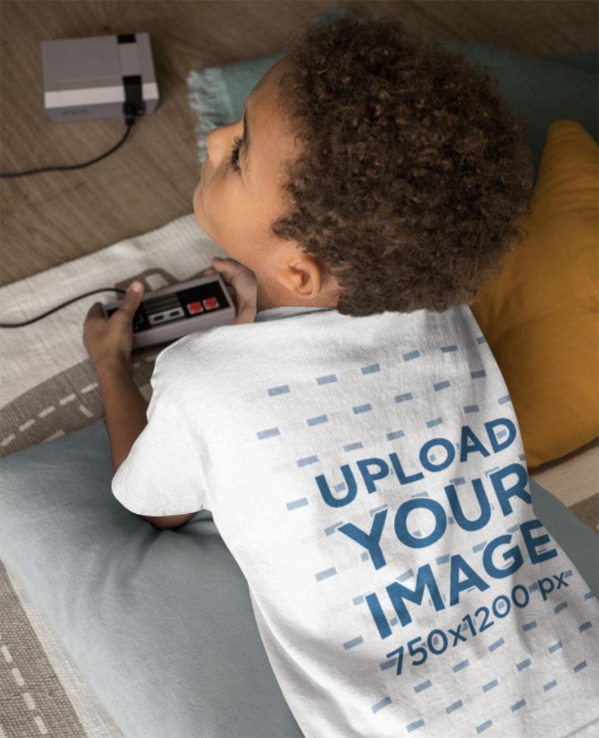 Jersey T-Shirt Mockup for Kids