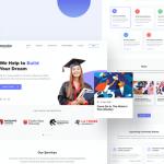 Education & LMS landing page design