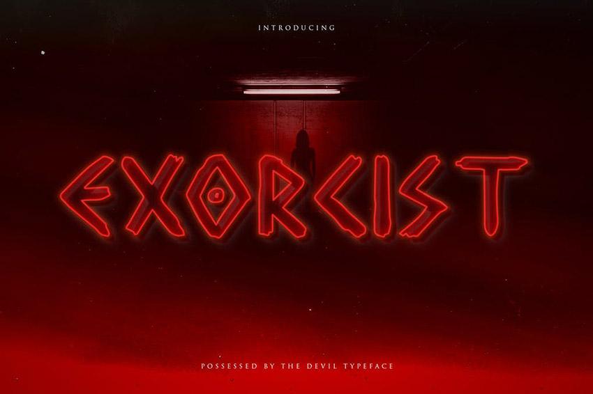 Exorcist Horror Film Font