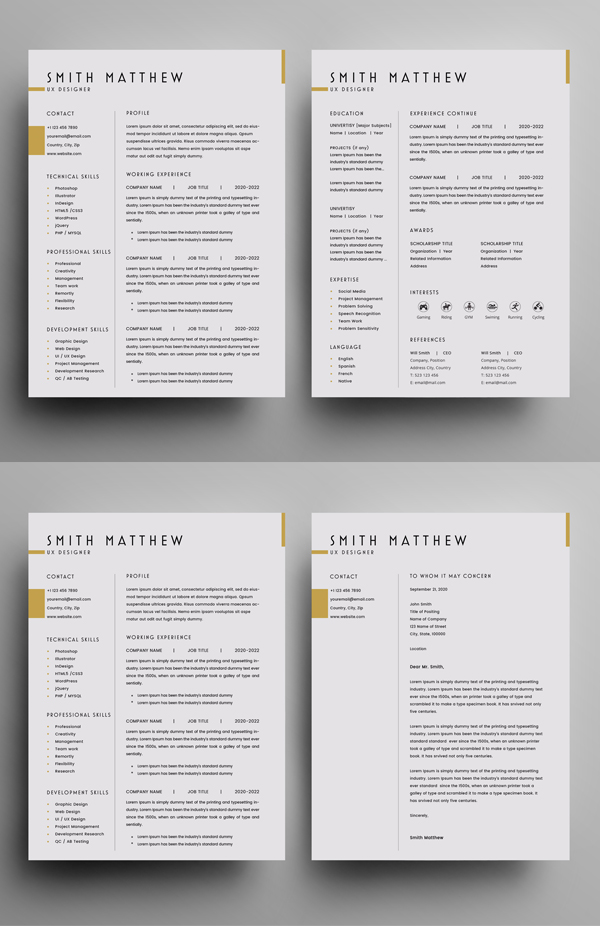 Free Resume Template + Cover Letter (PSD)