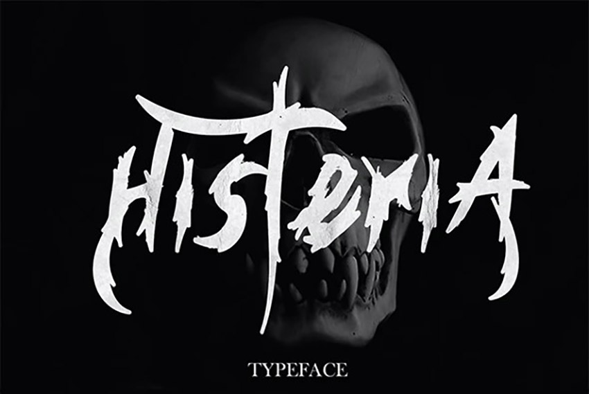 Histeria Old Horror Font