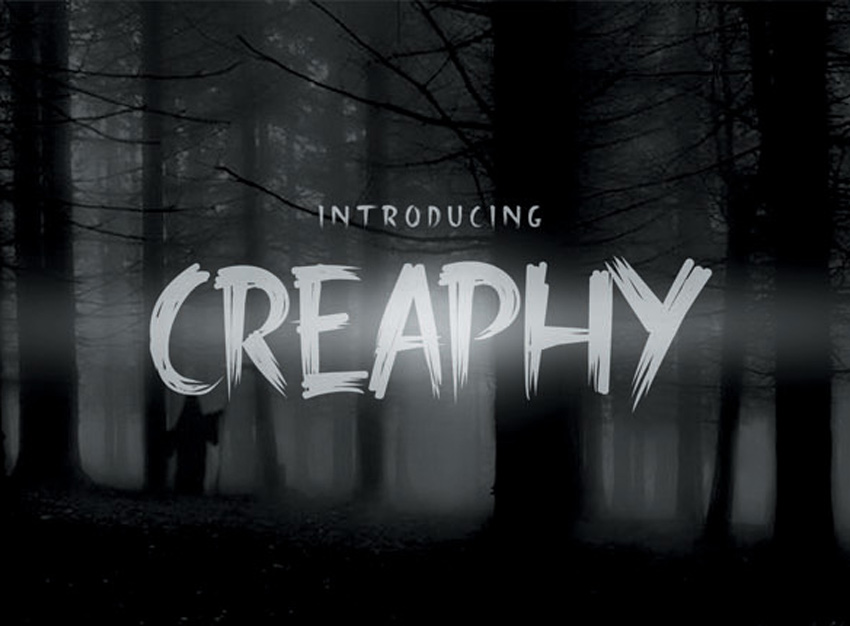 Creaphy Typeface Scary Text Font