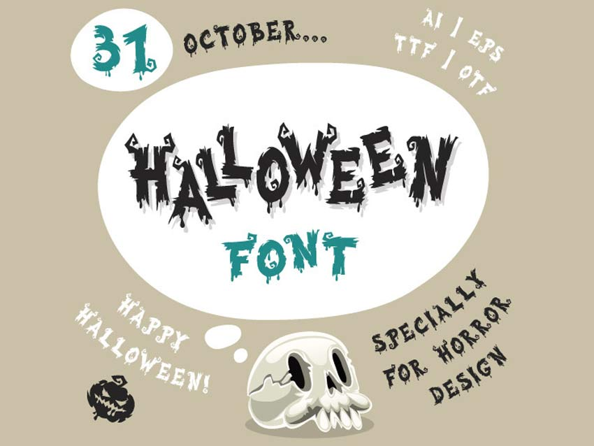 Halloween Old Horror Font