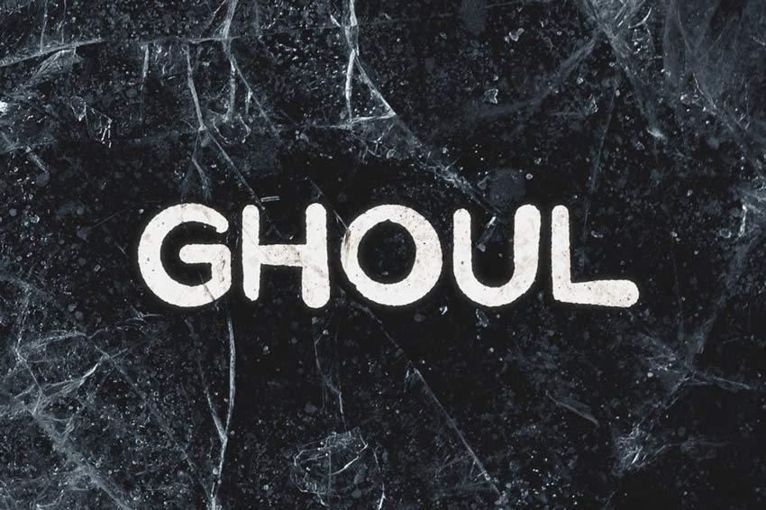 Ghoul Horror Film Font