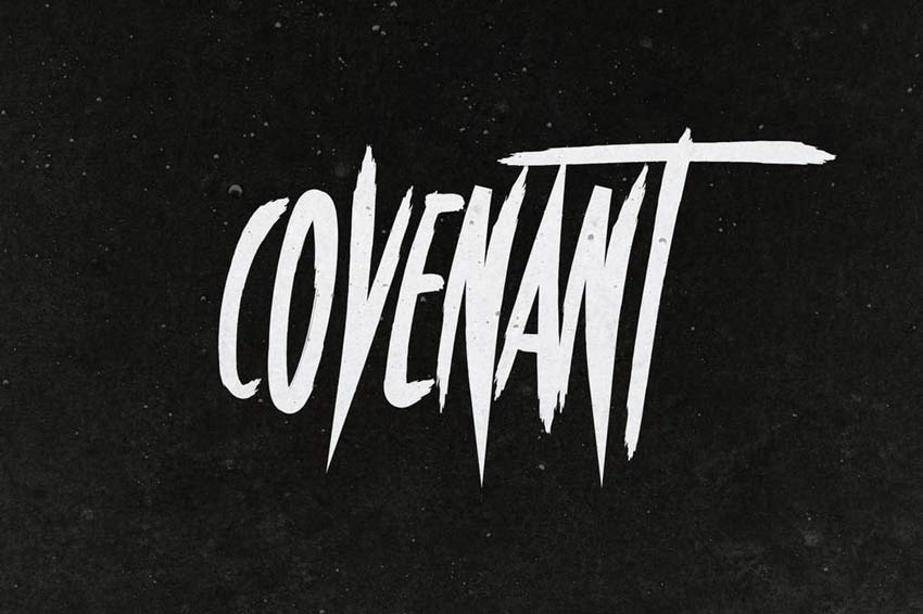 Covenant Horror Film Font