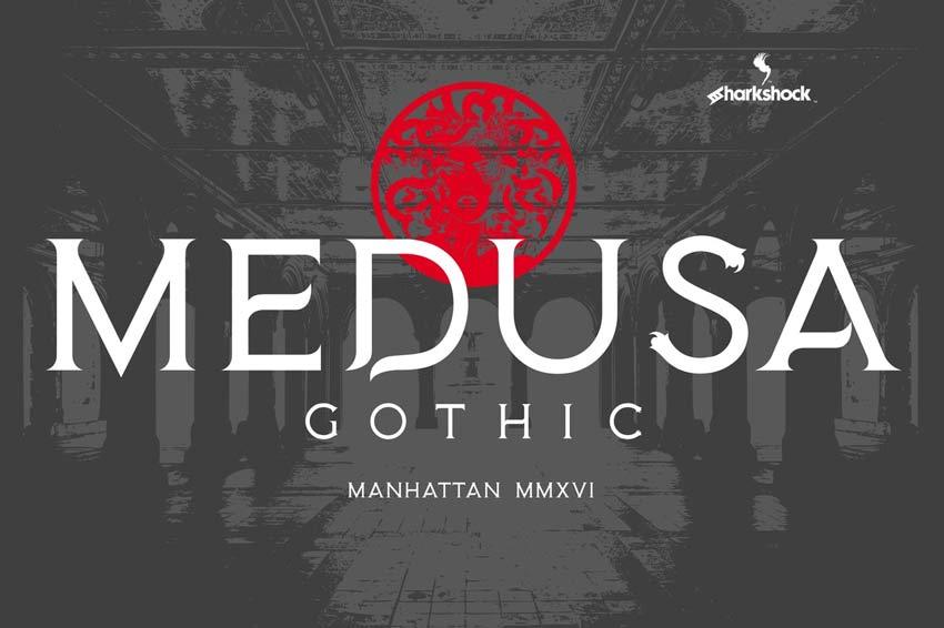 Medusa Gothic Horror Font