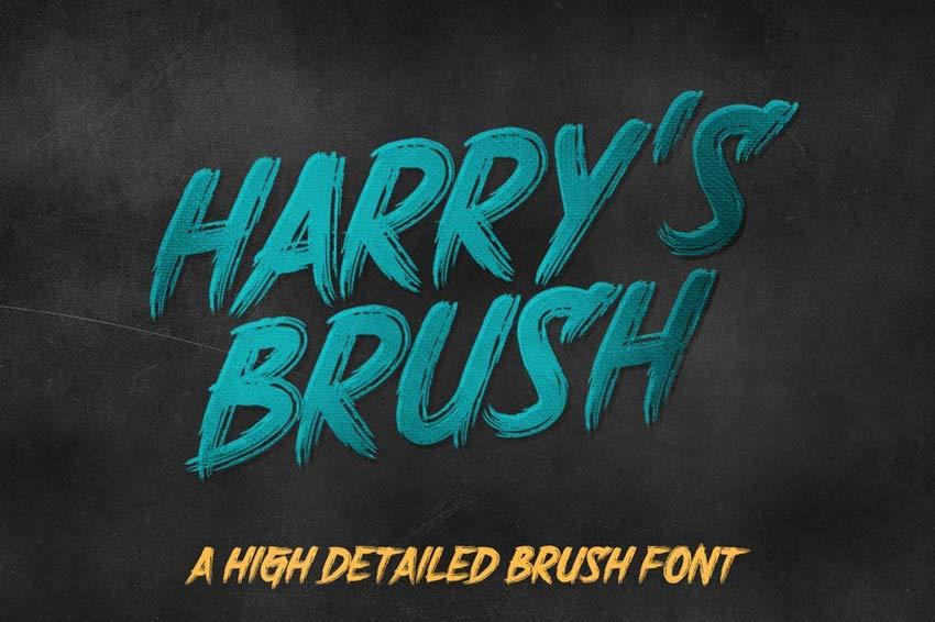 Harrys Brush Zombie Movie Font