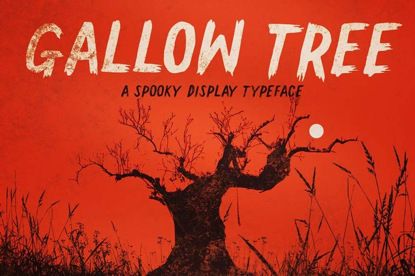 Gallow Tree Old Horror Movie Poster Font