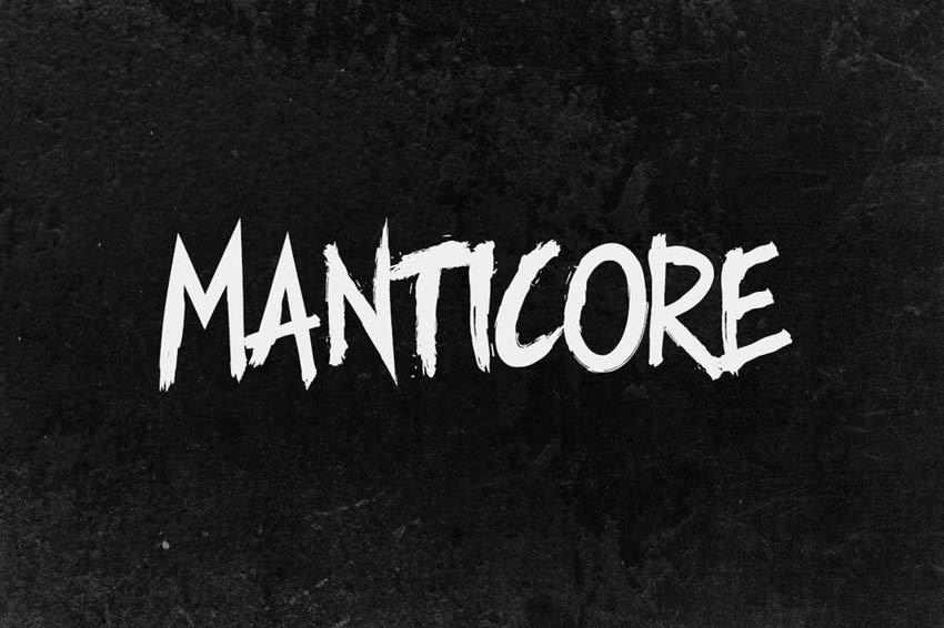 Manticore - Brush Creepy Writing Font
