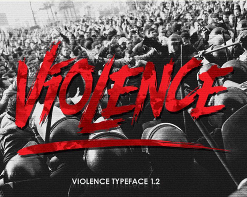 Violence Creepy Writing Font