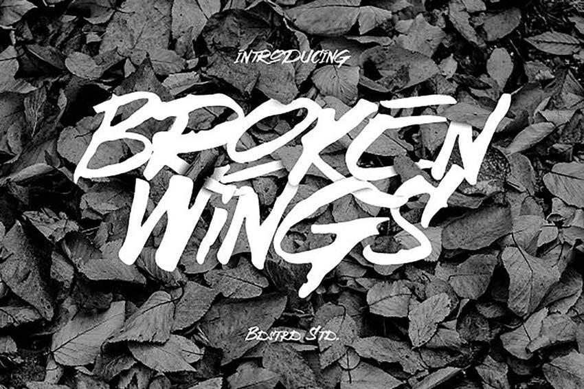 Broken Wings Creepy Font
